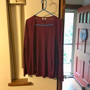 Plum colored Old Navy cardigan